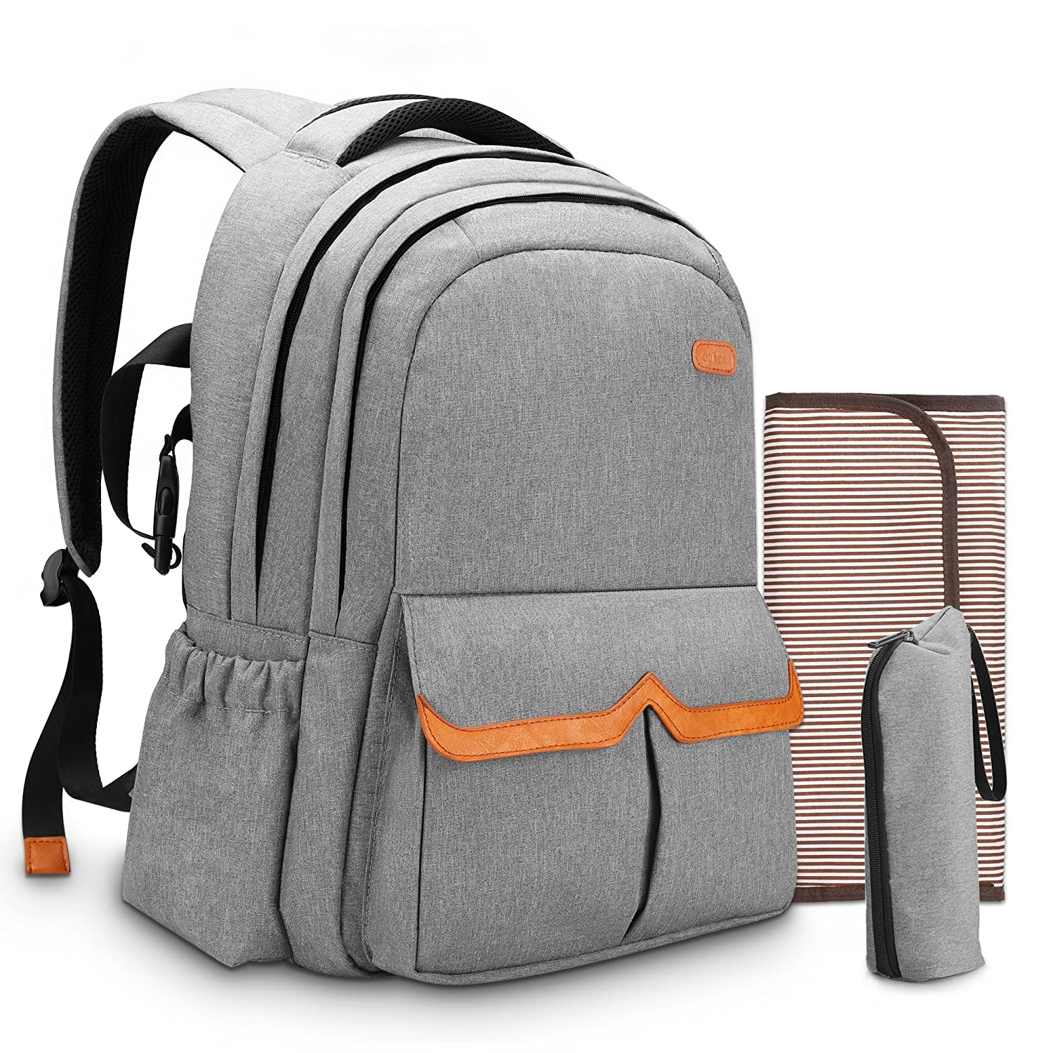 Amazon.com : Diaper Bag Backpack for Dad and Mom, Apiker Water Resistant Nappy Bag for Travel with Baby, Stylish and Durable, with Extra Changing Pad, ...