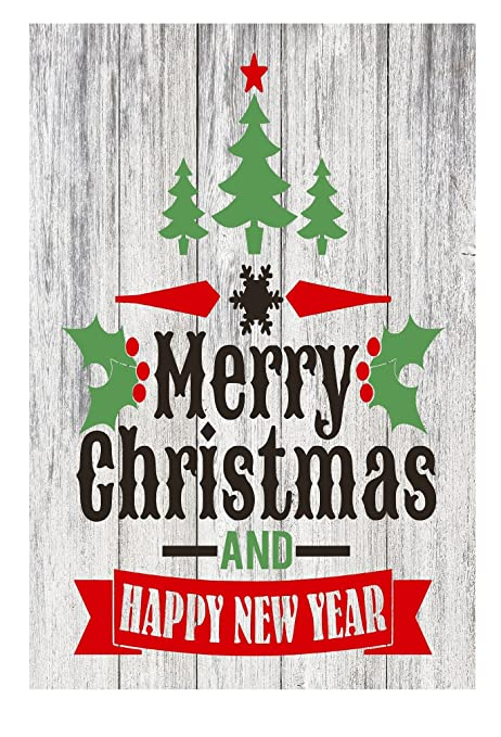 Amazon PhotoSteel Merry Christmas And Happy New Year Home Decor Metal Sign