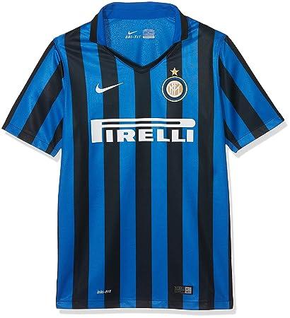 0a70630a3290a Nike Inter Mailand Home Stadium 2015 2016 Kids Camiseta 1º Equipación Milán  2015-2016