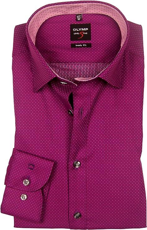 OLYMP Bezner KG - Camisa formal - Lunares - con botones ...
