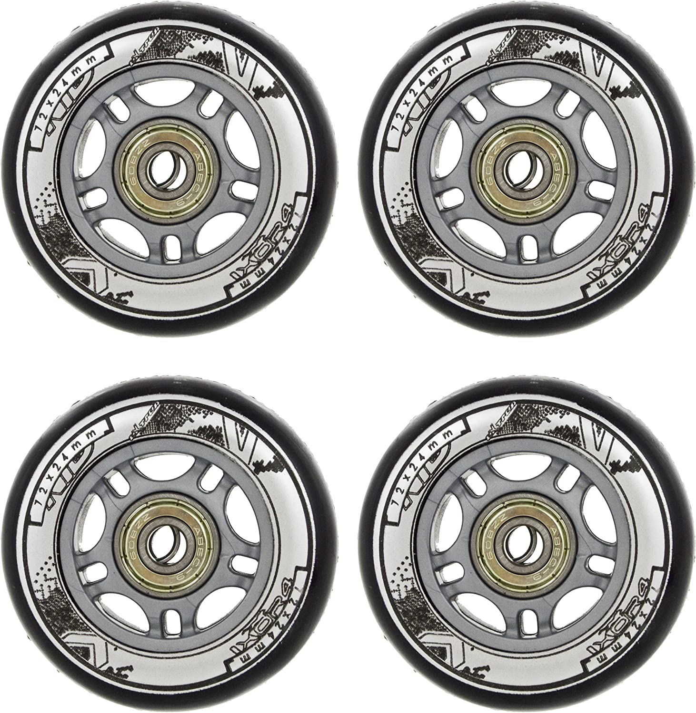 NILS Inline Wheels with Ball Bearing Set of 4 PU Wheels ABEC 9 Bearing 64-80 mm