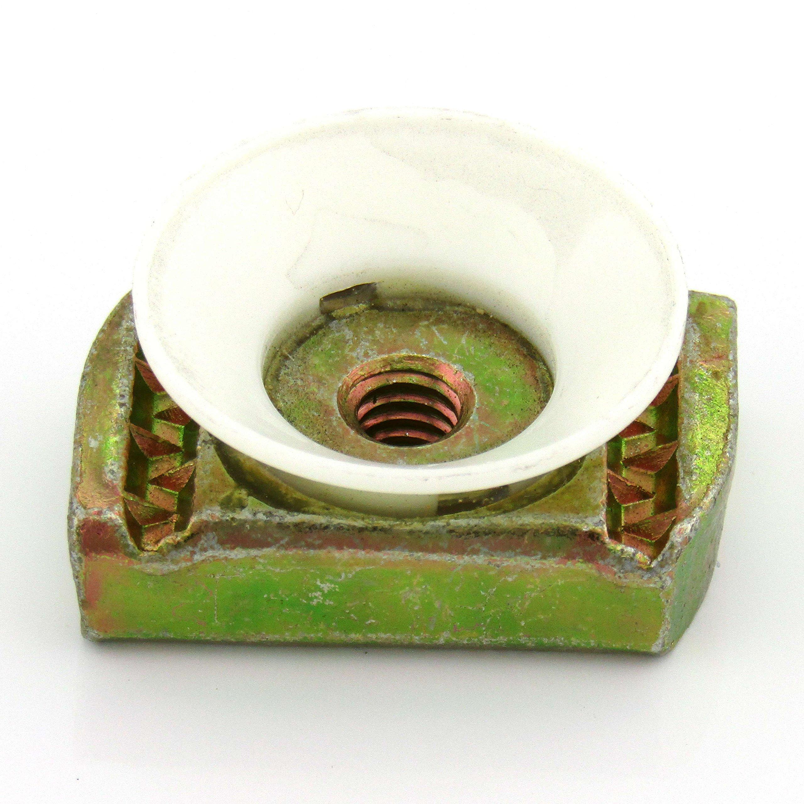 1/4-20 Nylon Cone L/N; Yellow Zinc (100 per box)