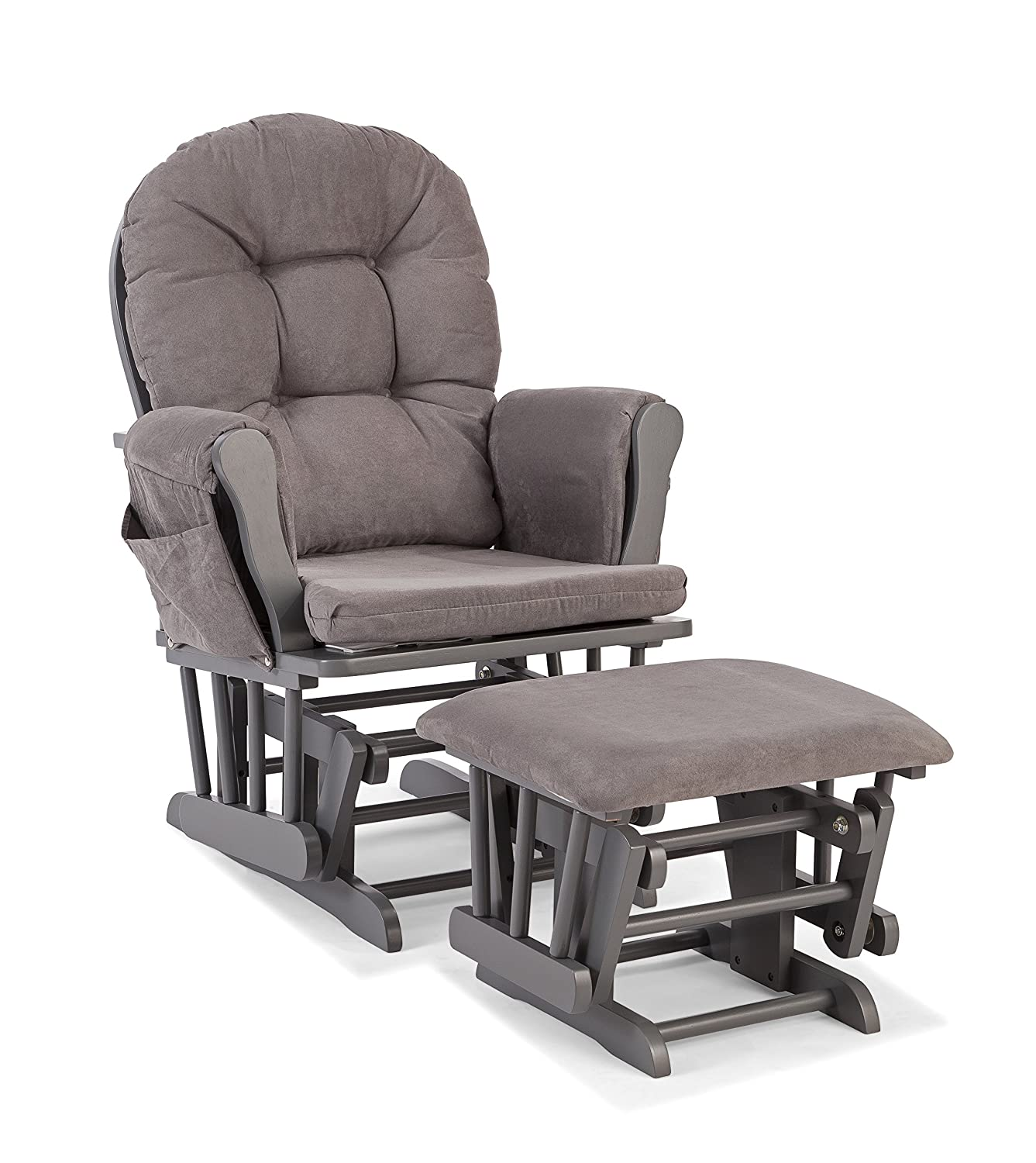 Storkcraft Hoop Custom Glider and Ottoman, Gray/Gray 06550-60G