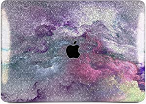 """Cavka Hard Glitter Case for Apple MacBook Pro 13"""" 2019 Retina 15"""" Mac Air 11"""" Mac 12"""" Bling Texture Pink Nature Sparkly Purple Silver Rose Gold Shiny Cover Glossy Design Abstract Nice Print Paint Sky"""