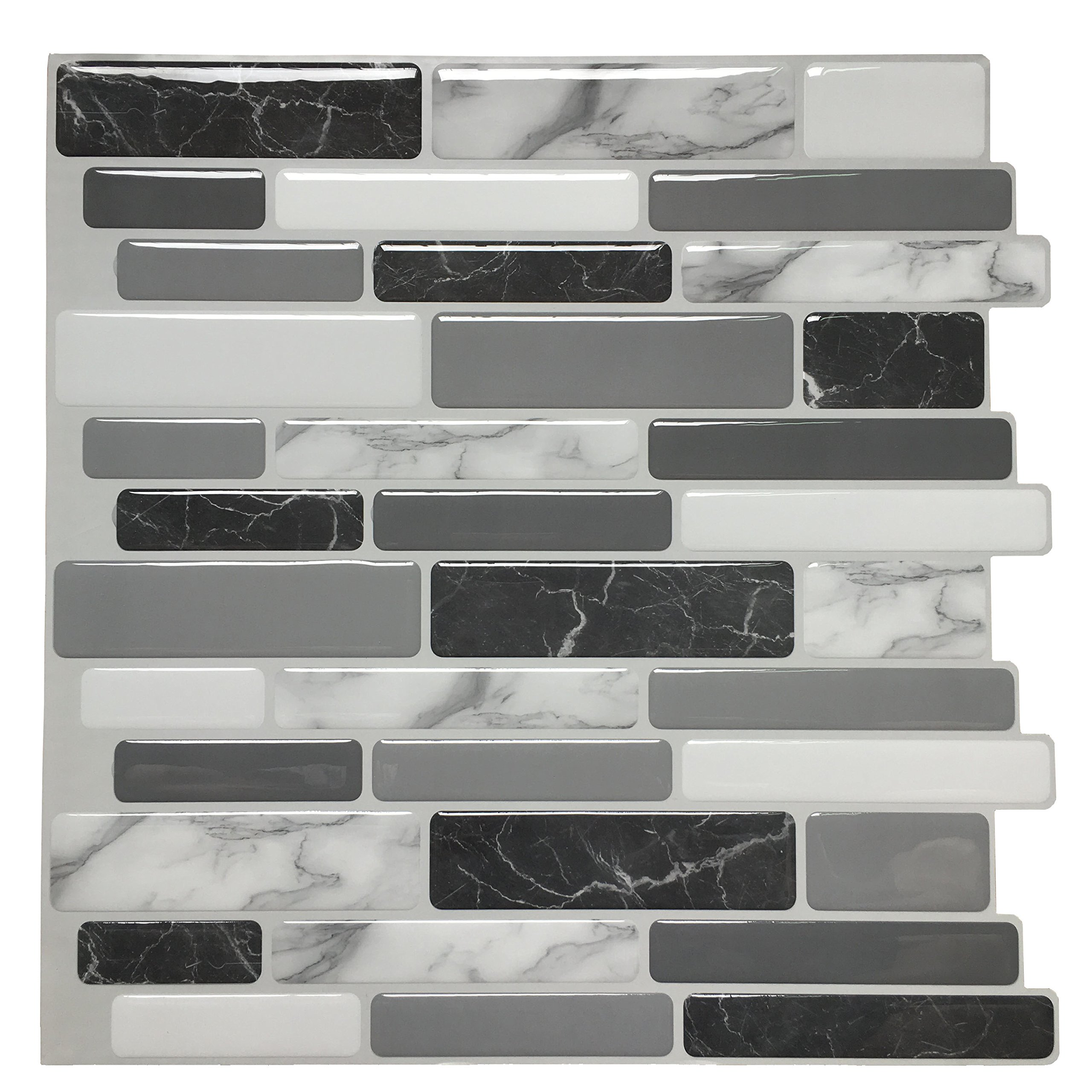 12x12 peel and stick backsplash tile for kitchen marble grey 6 easy diy peel and stick tile concept of mosaic sticker smart tile is made of an adhesive substrate topped with a gel component called pu resin the embossed dailygadgetfo Gallery