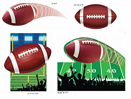Amazon Com 4 Pack Football Party Cutouts Football Party