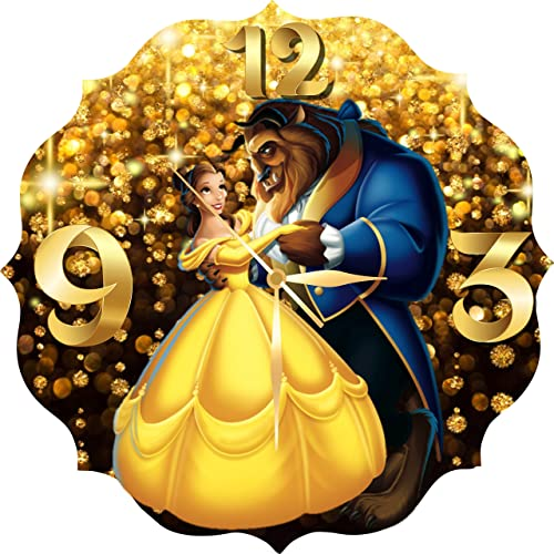 Original Handmade Wall Clock Beauty and the Beast 11.8 Get unique d cor for home or office Best gift ideas for kids, friends, parents and your soul mates