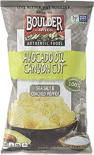 product image for Boulder Canyon Avocado Oil Cut Sea Salt & Cracked Pepper Potato Chips, 5.25 oz