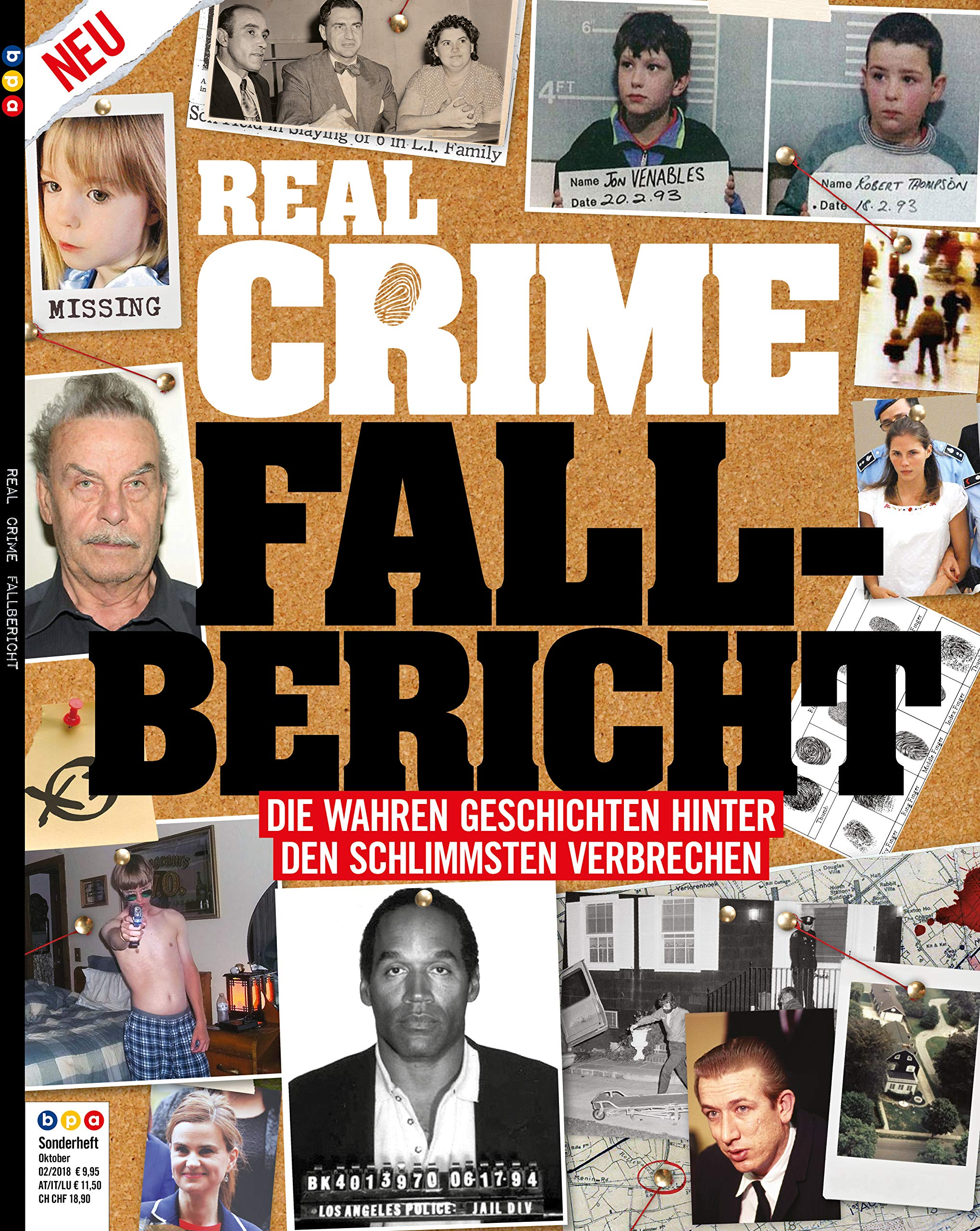 Real Crime - Sonderheft: Fall-Bericht - Die wahren Geschichten hinter den schlimmsten Verbrechen Taschenbuch – 12. Oktober 2018 Oliver Buss bpa media GmbH (Nova MD) B07HSKPHNH True Crime