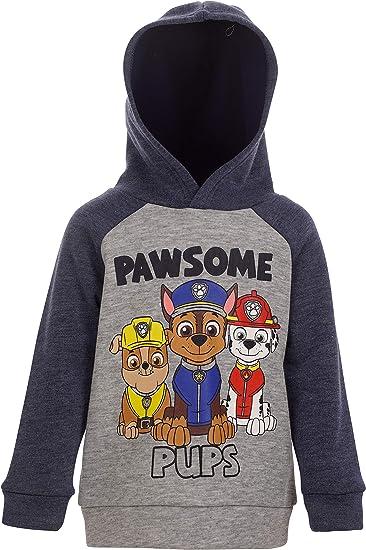 Nickelodeon Paw Patrol Half-Zip Fleece Pullover Hoodie Chase//Marshall