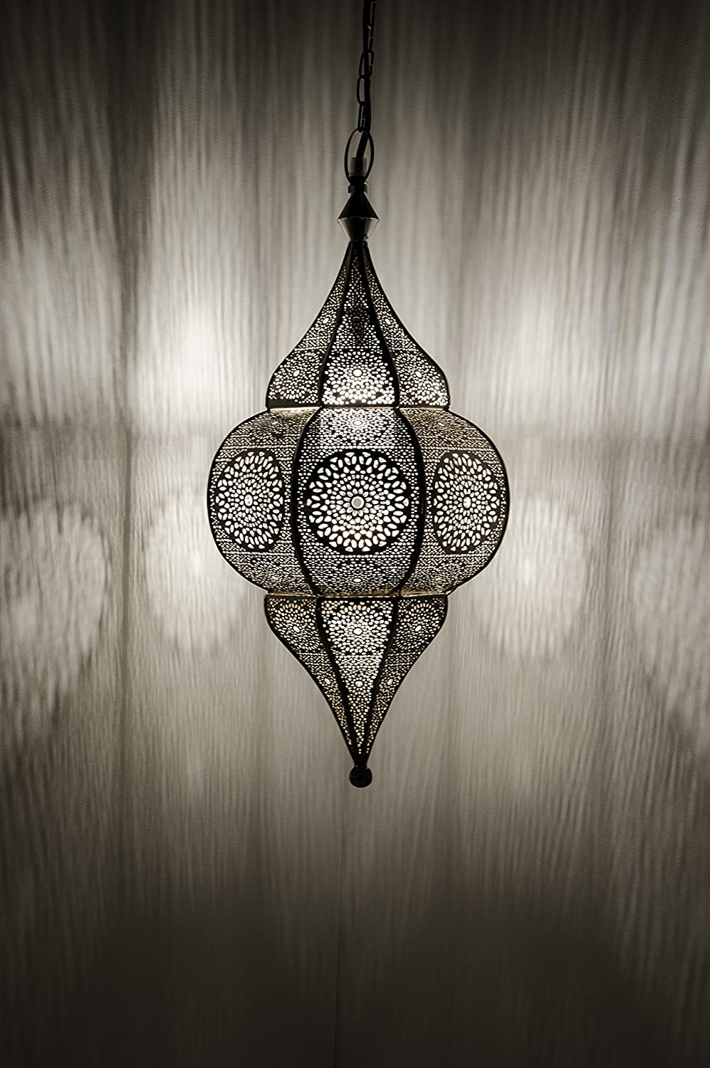 Romantic LARGE Authentic Moroccan Brass Table Lamp Oriental Lightning
