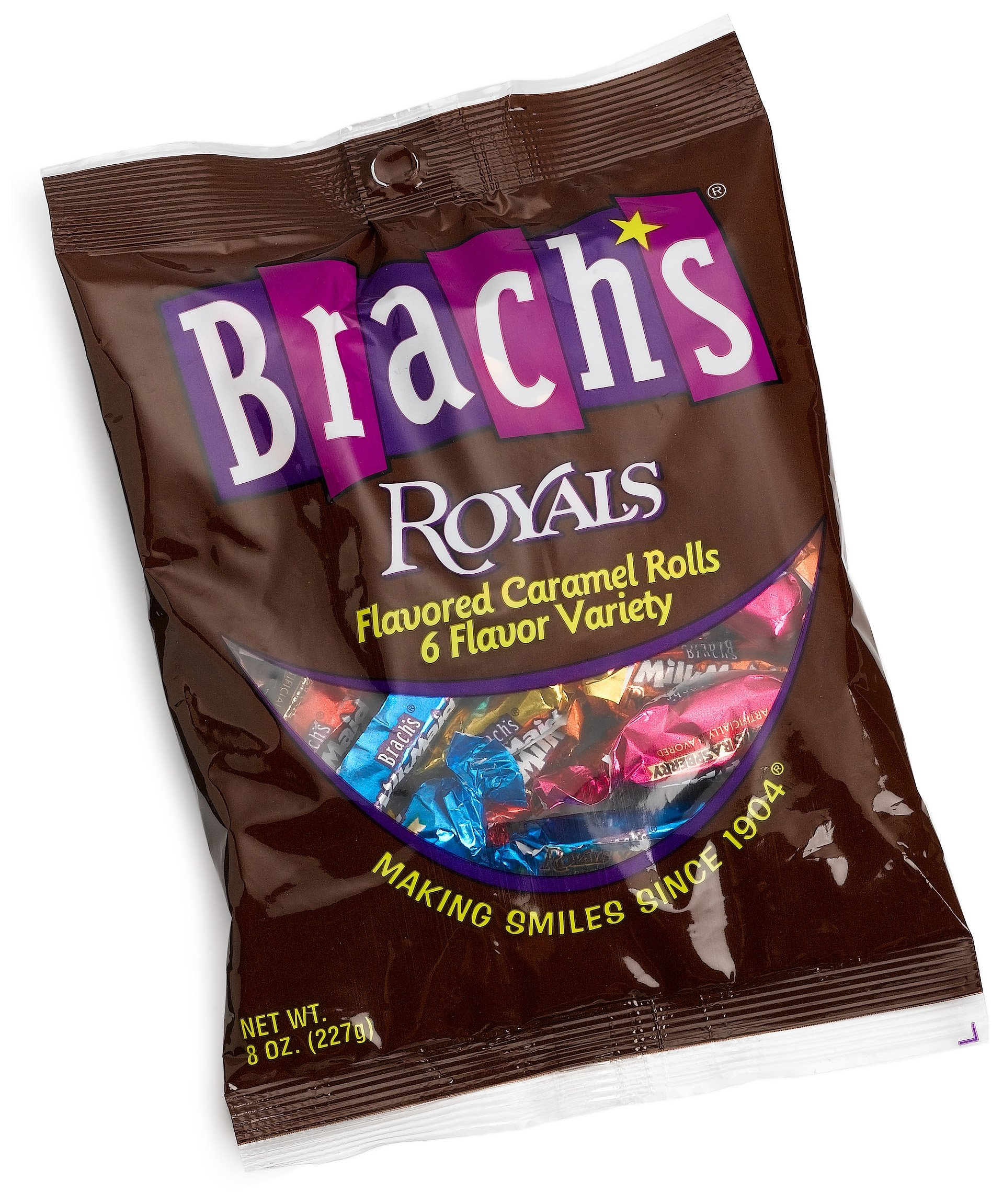 Brach's Royal Flavored Caramels, 8-Ounce Bags, Pack of 12 by Brach's