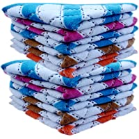 Sofex Very Soft Love Touch Womens & Girls Face Hanky, Face Towels, Multi Color & Design Handkerchief (10 Pieces)