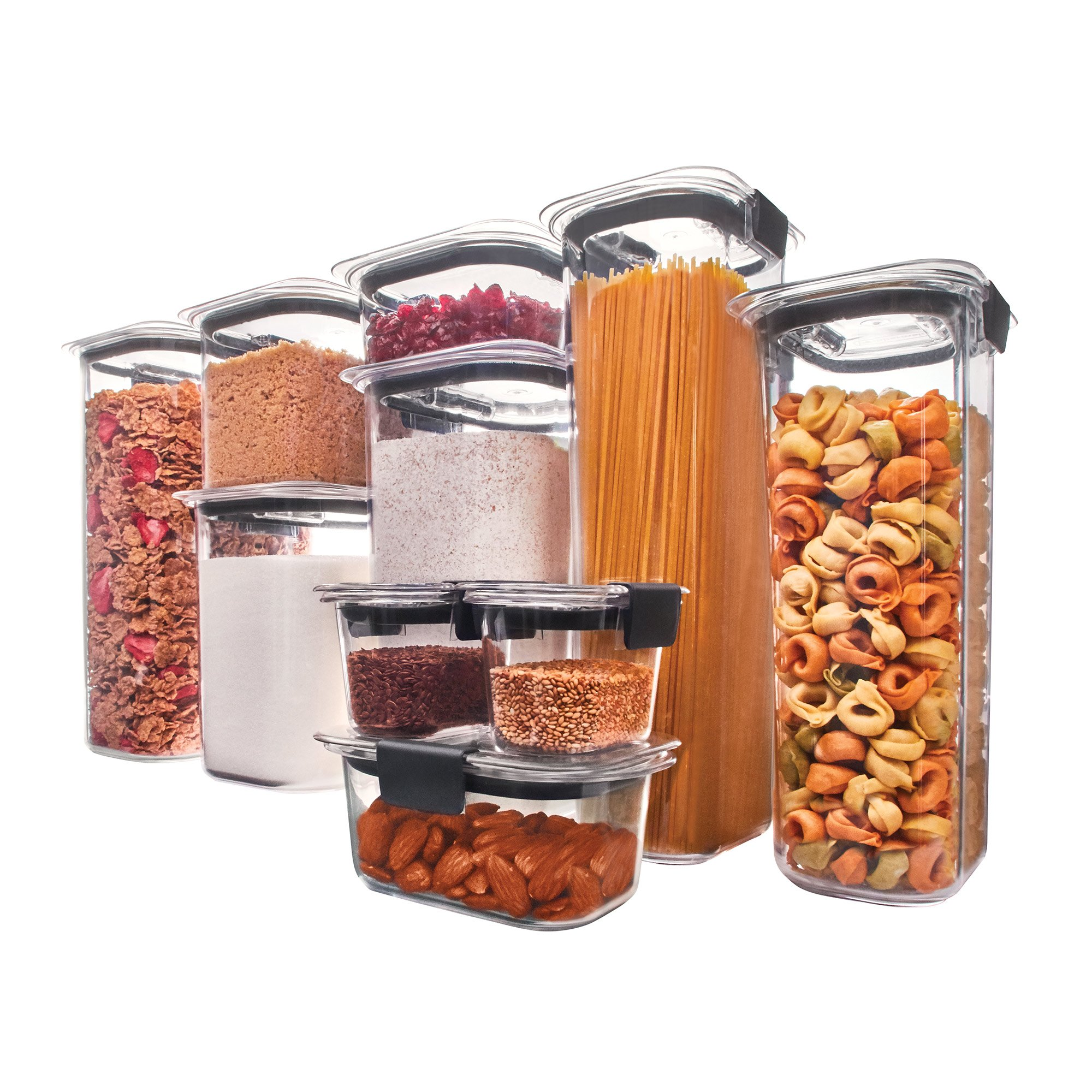 Rubbermaid 1994254 Brilliance Pantry Airtight Food Storage Container BPA-free Plastic, Set by Rubbermaid