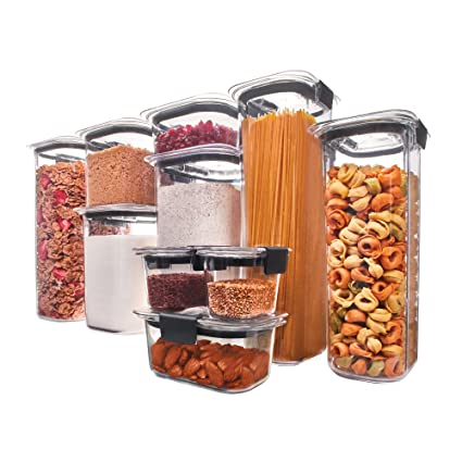 Rubbermaid 1994254 Brilliance Pantry Airtight Food Storage Container BPA-free Plastic, Set