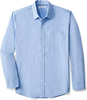 049c82566d Amazon Essentials Men s Regular-Fit Long-Sleeve Solid Casual Poplin Shirt