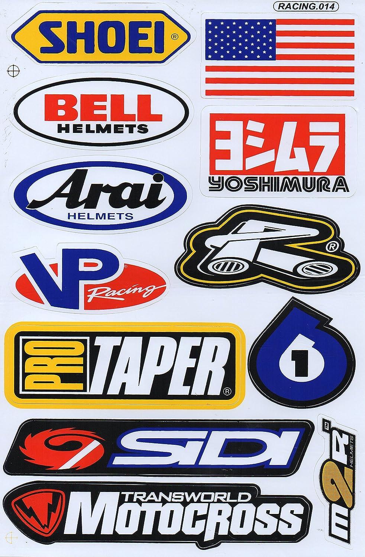 Sponsor STICKER Tuning Racing Motocross Autocollant feuille 27 x 18 cm by soljo A468-SP