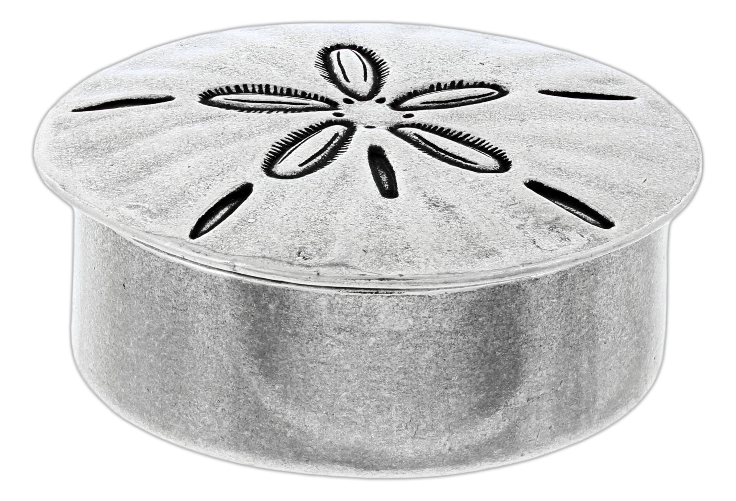 Bob Siemon 2.25'' Pewter Sand Dollar Trinket Box by Bob Siemon
