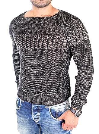 neu kaufen Infos für Größe 7 Tazzio Strickpullover Herren Two Tone Pullover Weiter Auschnitt TZ-16495