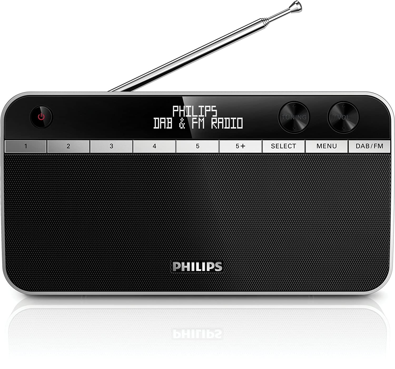 Philips AE5250//12 pantalla LCD, DAB, radio FM Radio importado negro