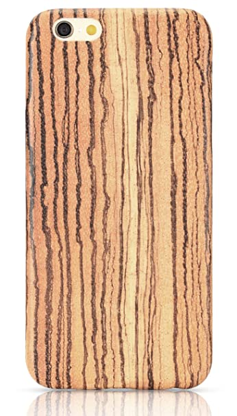 online retailer 39395 603b2 PITAKA Wood Case Compatible with iPhone 6/6s (4.7Inch), [Aramidcore Wood  Series] Genunine Slim Natural Wooden Phone Case - Natural Zebra [with Free  ...