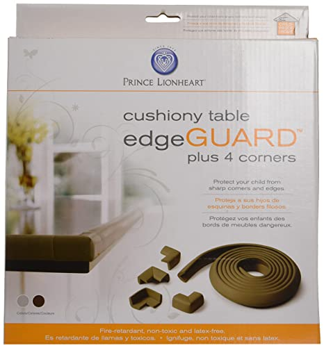 table edge guard. prince lionheart 91 table edge guard with 4 corners (chocolate brown): amazon.ca: baby n