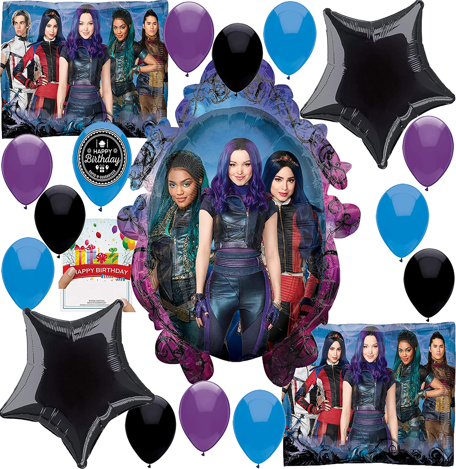 Disney Descendants Backdrop for Photography 7x5ft Descendants 3 Vinyl Photo Background Girls Kids Birthday Party Decorations Supplies Backgrounds Customized Studio Banner