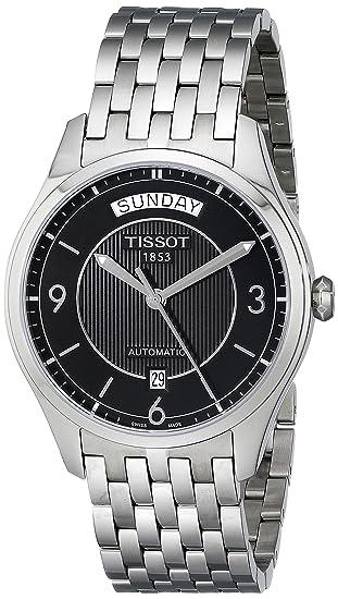Tissot T0384301105700 - Reloj analógico de mujer automático con correa de acero inoxidable plateada: Tissot: Amazon.es: Relojes