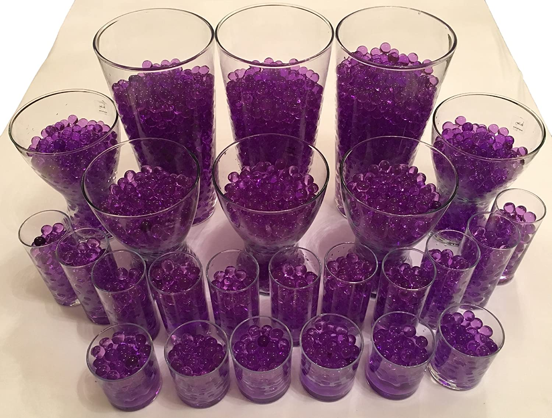 20/litres deau Perles Boules D/écoration Plus de 10/000/Boules/ /Plantes Fleurs D/écoration Table d/écoratif violet