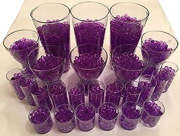 4000 Unidades Agua bolas Gel pelotas Chris tal Tierra Chrystal perlas Jarrones Decoración 11 - 15 mm de diámetro - Plantas velas Flores dispensador de agua ...