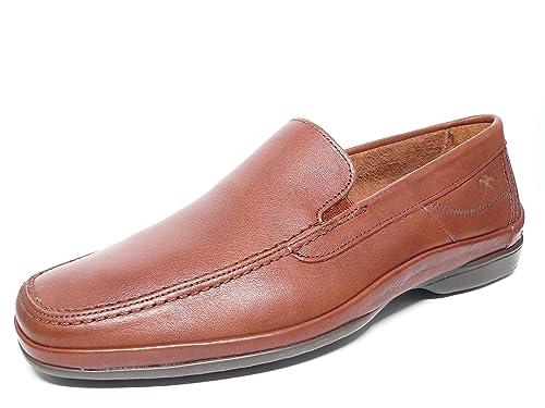 Zapato casual hombre FLUCHOS elasticos laterales en piel color libano - 7116 - 41N: Amazon.es: Zapatos y complementos