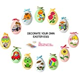 12 Pack Easter Egg Ornaments Paint Craft For Kids- Easter Basket Fillers, Party Favors, Painting Eggs Easter Gift