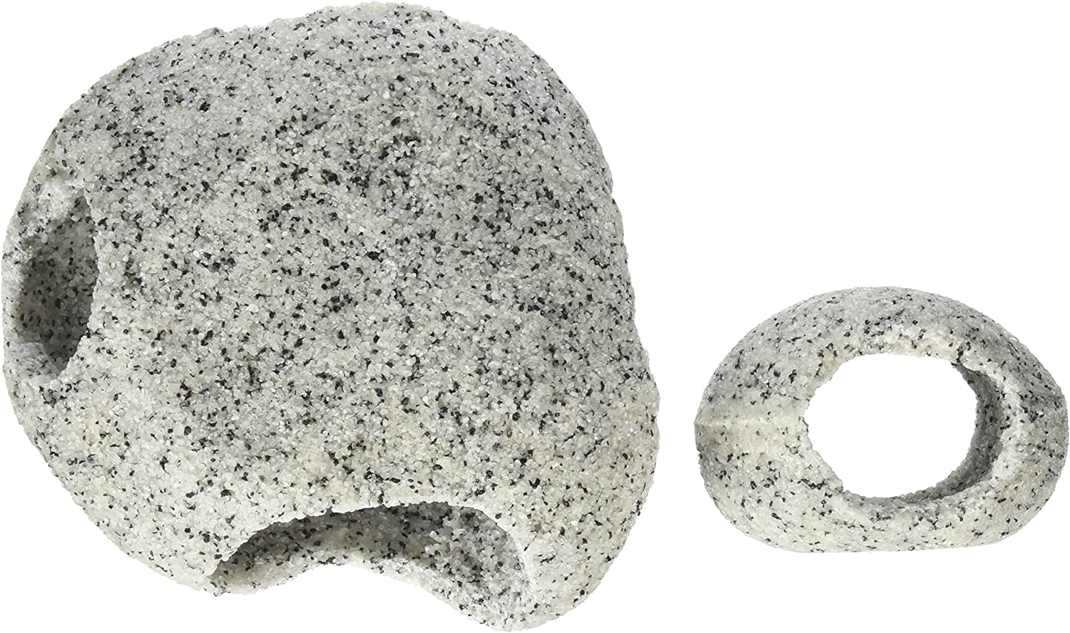 Penn-Plax Deco-Replicas Granite Aquarium Ornament Series – Realistic Stone Appearance – Safe for Freshwater and Saltwater Tanks – Great for Territorial Fish