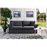 Classic and Traditional Ultra Comfortable Velvet Fabric Sofa - Living Room Velvet Couch (Grey)