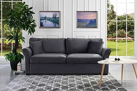 Amazon.com: Tradicional y clásico Ultra cómodo sofá de tela ...