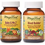 MegaFood, Baby & Me 2 and Blood Builder Supplement Bundle, Pre- and Postnatal and Support for Healthy Iron Levels (60 & 30 Tablets)