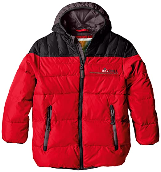 44b6b65a290 Big Chill Boys' Puffer Jacket with Down Fill