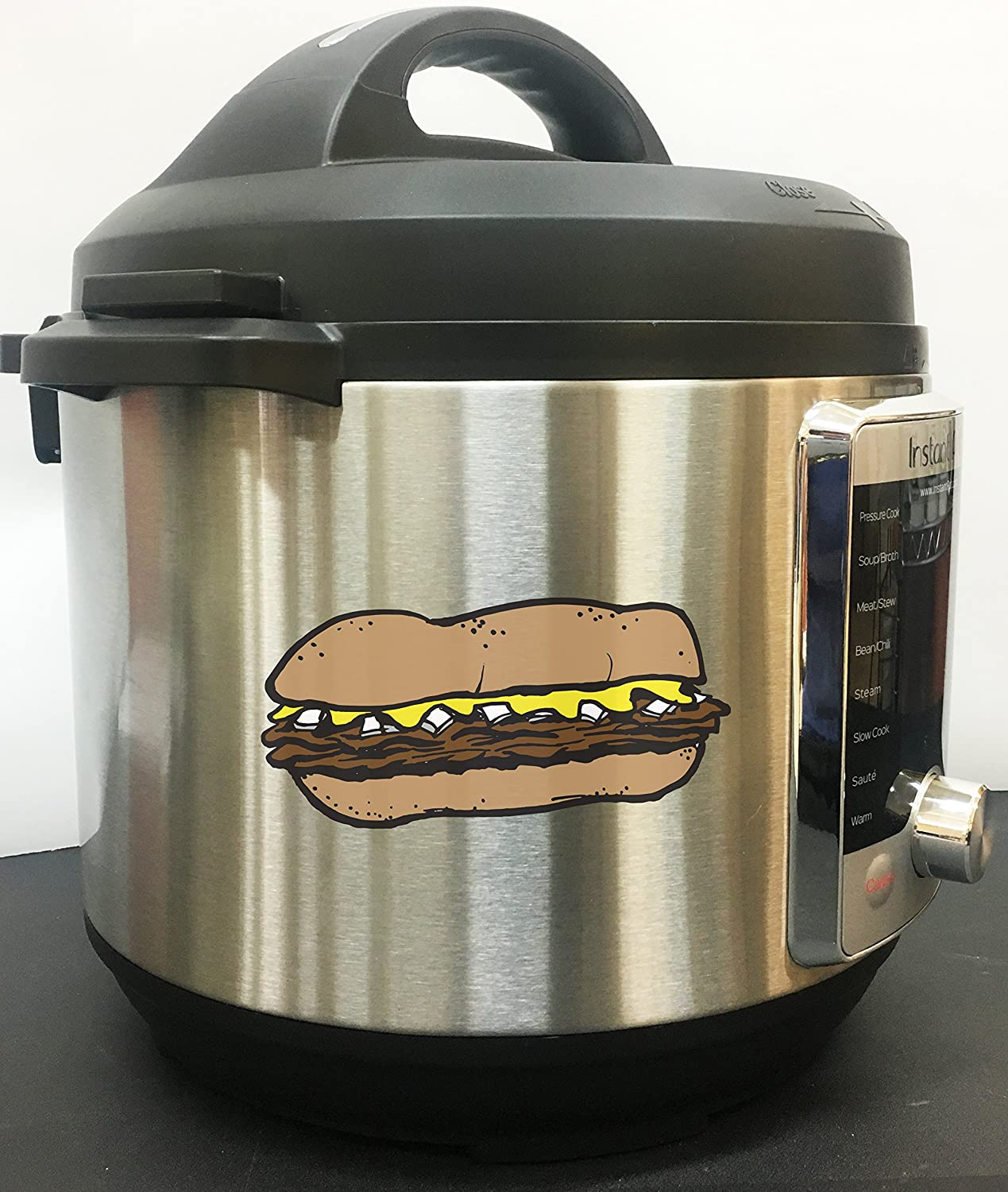 Philly Cheesesteak Art Full Color Vinyl Decal For Instant Pot