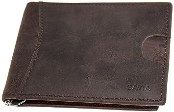 c0ea3de7088 SAVIA Cartera billetera Marca española RFID Cuero de Vaca hombre Pequeña  Fina Artesanal Vintage Moda Sostenible  Amazon.es  Equipaje