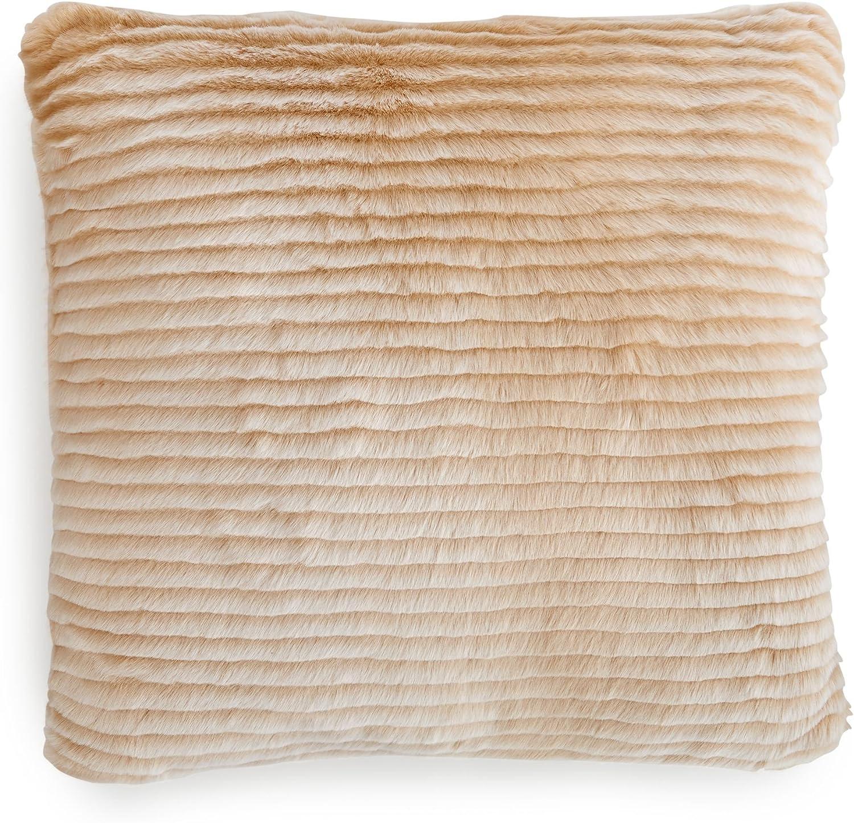 Amazon Com Charter Club Eyelash Stripe Faux Fur Throw And Decorative Pillow Collection Home Kitchen