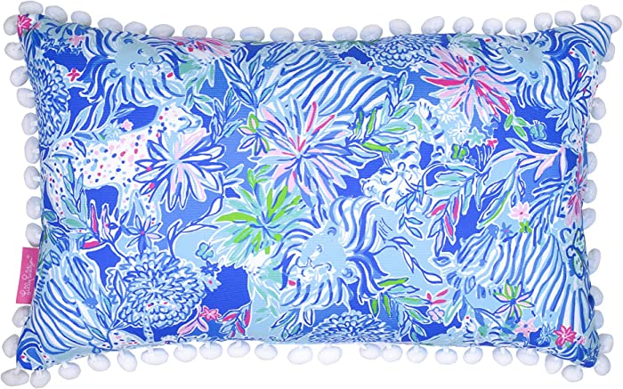 Lilly Pulitzer Indoor/Outdoor Medium Decorative Pillow, Lion Around