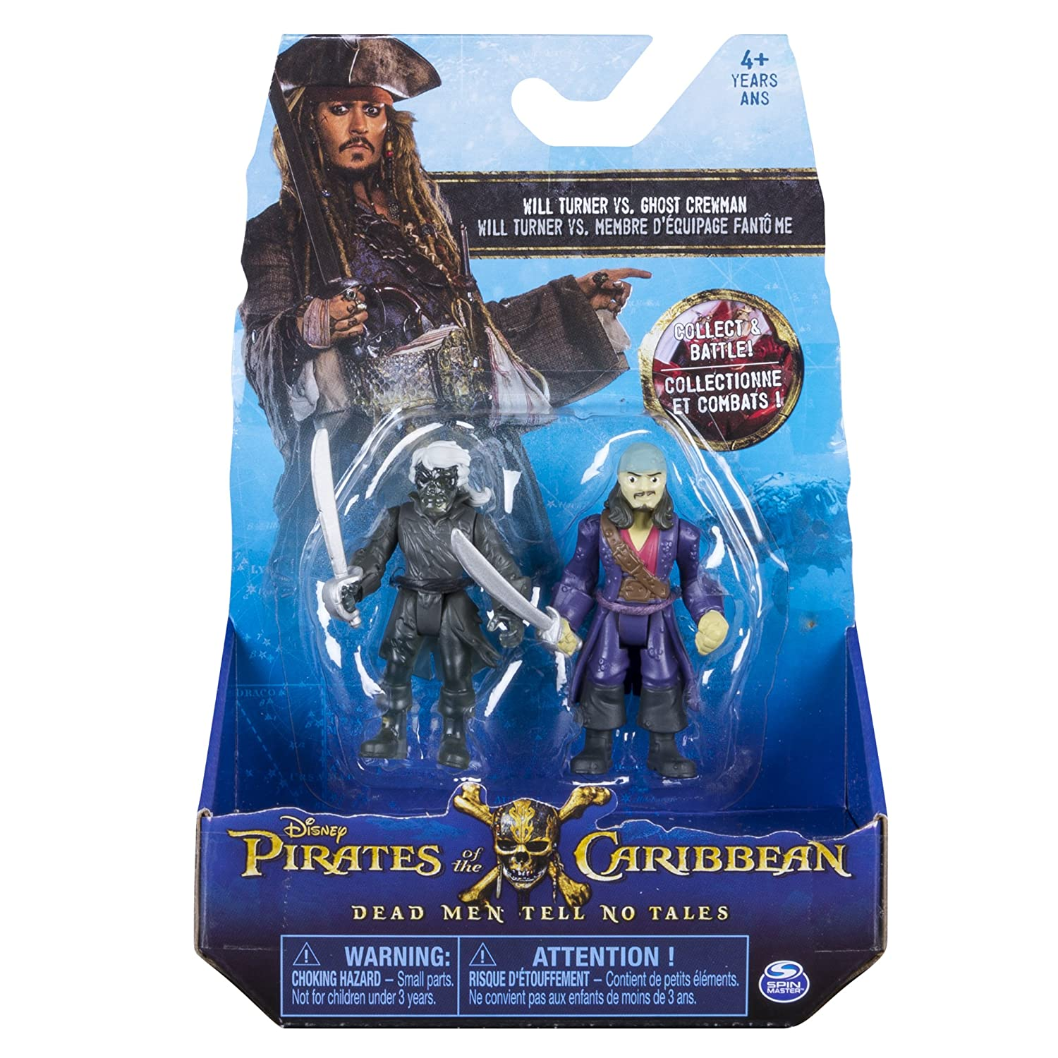 Action Figure 2-Pack Will Turner vs Ghost Crewman Pirates of the Caribbean: Dead Men Tell No Tales