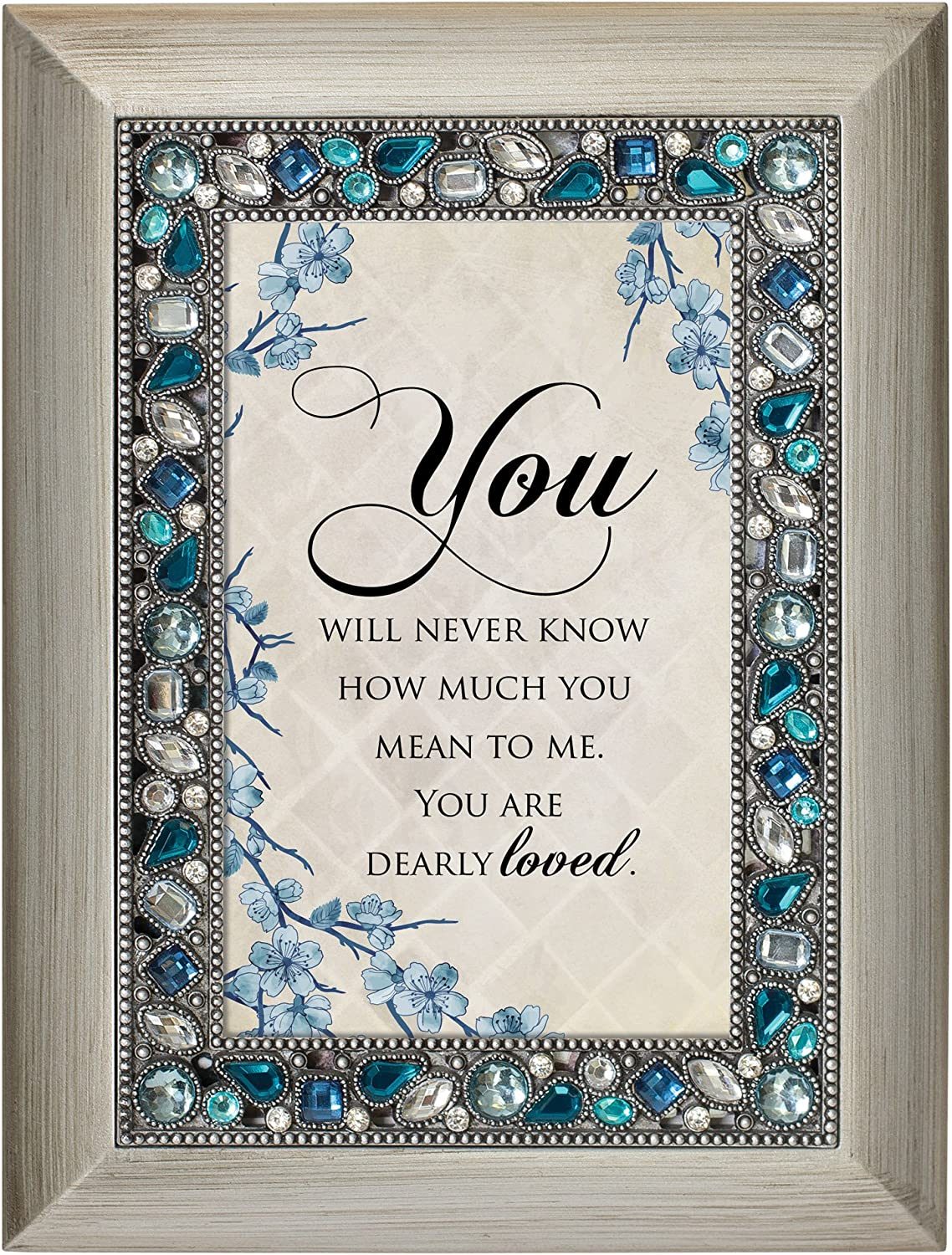 Cottage Garden You Will Never Know How Much Brushed Silvertone Easel Back Photo Frame