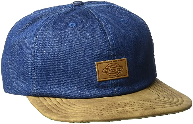 b94509851f6 Dickies Men s Leather Bill Slouch Snapback Baseball Hat