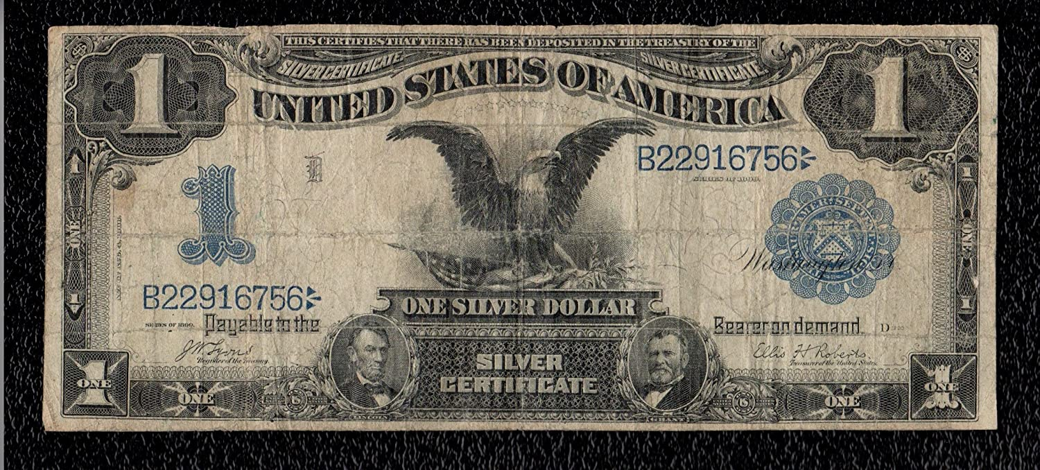 Amazon One Dollar 1899 Series Black Eagle Silver Certificate