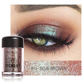 Symbol Of The Brand Cosmetics Shimmer Eye Shadow Kit Waterproof Pigment Brown Blue Chocolate Black Color Liquid Glitter Eyeshadow Hot Sale Customers First Eye Shadow Beauty & Health