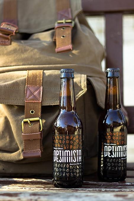 Cerveza artesanal Optimista / Pesimista de La Lenta (6 botellas de 33cl): Amazon.es: Alimentación y bebidas