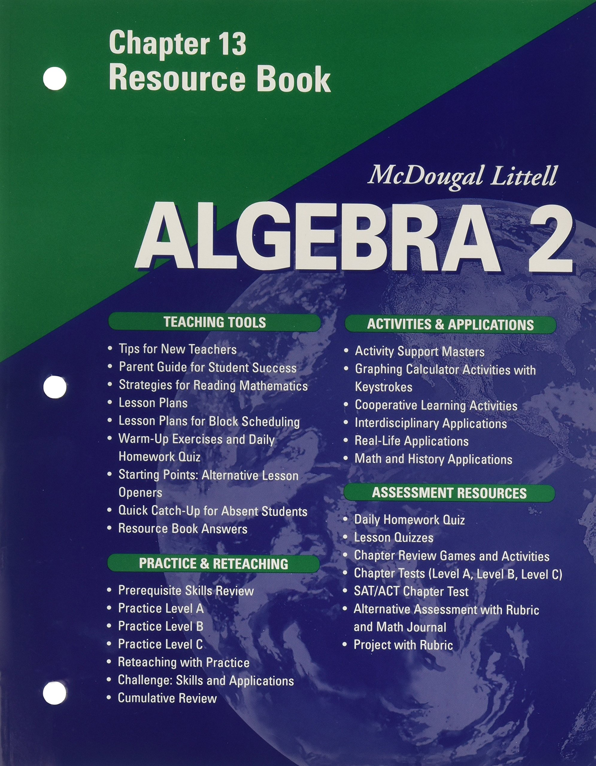 McDougal Littell Algebra 2: Resource Book: Chapter 8: MCDOUGAL ...