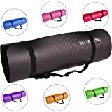 KG Physio Yoga Mat Thick Exercise Mat Premium Quality NBR Material Non-slip With Free Carrying Strap Great for Pilates, or General Gym Fitness Dimensions: 183cm Length x 60cm Width x 1cm