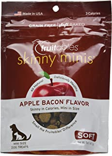 product image for Fruitables Skinny Minis 5 Ounce Apple Bacon Low Calorie Soft and Chewy Training Treat Pack of 3